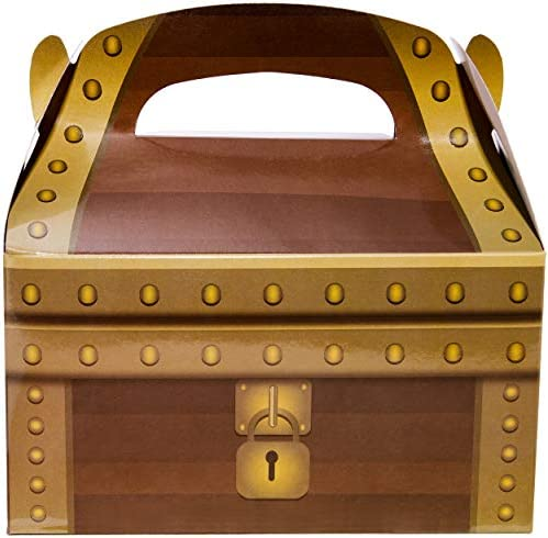 Birthday Party Favors Pirate Theme Treasure Chest Goodie Boxes 6 X 3 3 X 3 6 In 24 Pack Everything Else Amazon Com