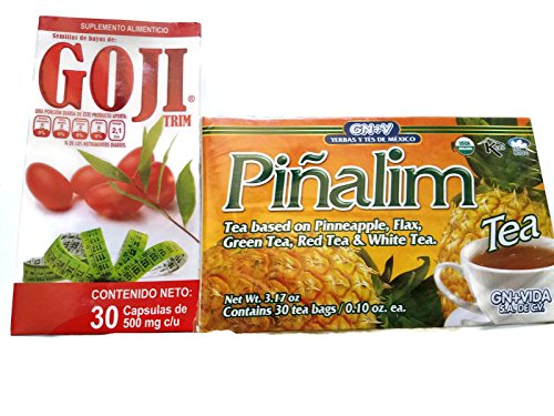 Piñalim Te' y Goji Trim (Weight Loss Set) 30 Day Supply, Free Sample of Sukunai For Sale