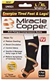 copper feet - Miracle Copper MCSLXL  Anti-Fatigue Compression Socks (Large/Extra Large)