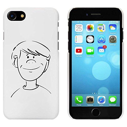 Blanc 'Visage du Garçon' étui / housse pour iPhone 7 (MC00060172)