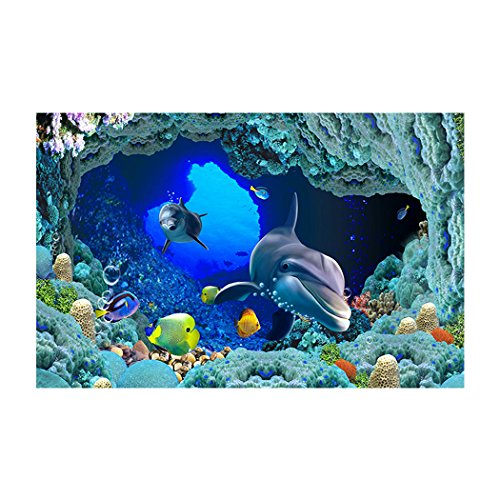 YOKOU Aquarium Background Sticker Wallpaper 29.5