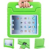 iPad air case, ipad 5 case, ANTS TECH Light Weight [ Shockproof ] Cases Cover with Handle Stand for Kids Children for iPad air (5) (iPad Air (5), Green)