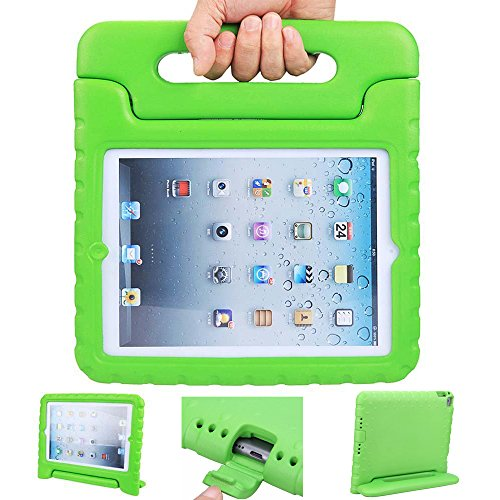 iPad mini case, ANTS TECH Light Weight [ Shockproof ] Cases Cover with Handle Stand for Kids Children for iPad mini 3 & iPad mini 2 & iPad mini (iPad Mini 123, Green)