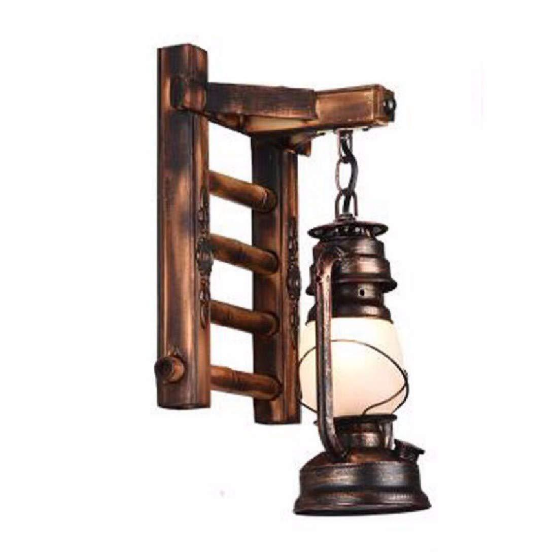 CJSHV lampada da parete antico muro di camera posteriore lampada abat - jour salotto creativo bar lampada,un