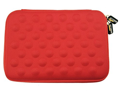 AZ-Cover 9-Inch Tablet Semi-rigid EVA Bubble Foam Case (Red) For DeerBrook 9