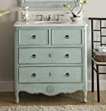 "34"" Cottage look Daleville Bathroom Sink vanity Model HF081-LB (Light Blue)"