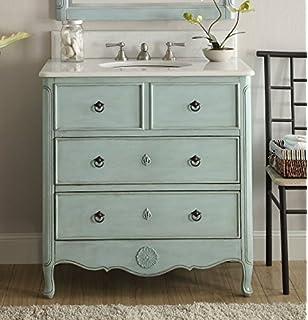 34u201d Cottage Look Daleville Bathroom Sink Vanity Model HF081 LB (Light Blue)