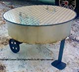 "36"" Round Aluminum Fire Pit Cover Campfire Ring Top Lid"