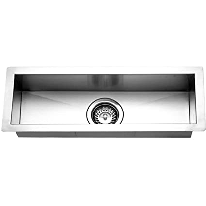 Houzer CTB 2385 Contempo Trough Series Undermount Stainless Steel Bar/Prep  Sink