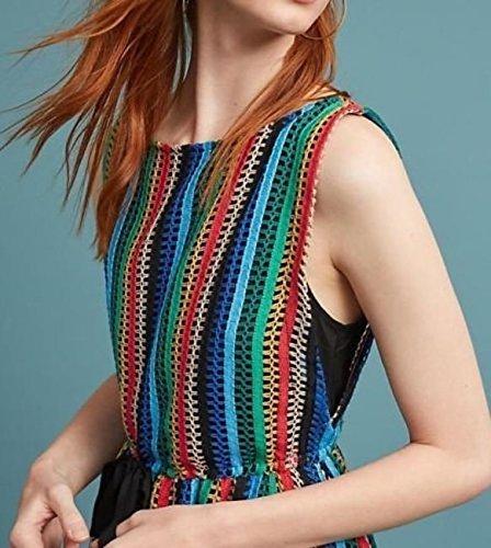 fca5061035110 Anthropologie Rainbow Crochet Midi Dress by Eva Franco $188 Sz 2 - NWT at  Amazon Women's Clothing store: