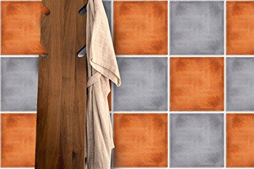 Piastrelle da parete adesivi decorazione effetto pelle colore