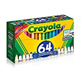 Crayola 64 ct. Ultra-Clean Washable, Broad Line Markers, Variety Pack , Adult Colouring, Bullet Journaling, School and Craft Supplies, Drawing Gift for Boys and Girls, Kids, Teens Ages 5, 6,7, 8 and Up, Back to school, School supplies, Arts and Crafts,  Gifting