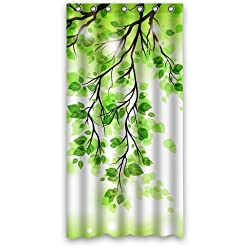 Beautiful Spring Green Leafs Tree Shower Curtain