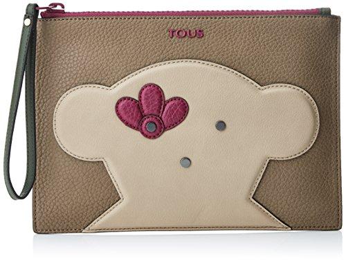 Tous Clutch Patch Greet - Pochette da giorno Donna, Varios colores (Multi / Piedra), 1x18x25 cm (W x H L)