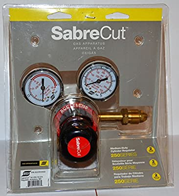 SabreCut Medium Duty Acetylene Gas Cylinder Regulator SC-250-15-510