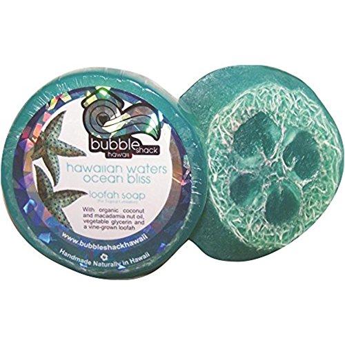 Hawaiian Bubble Shack Loofah Glycerin Soap Ocean Bliss 8 Bars