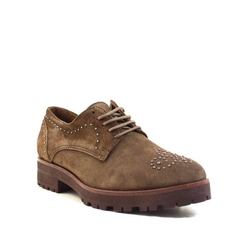 Alpe, Zapatos con tachuelas, zapatos mujer, taupe, 36 (EU)