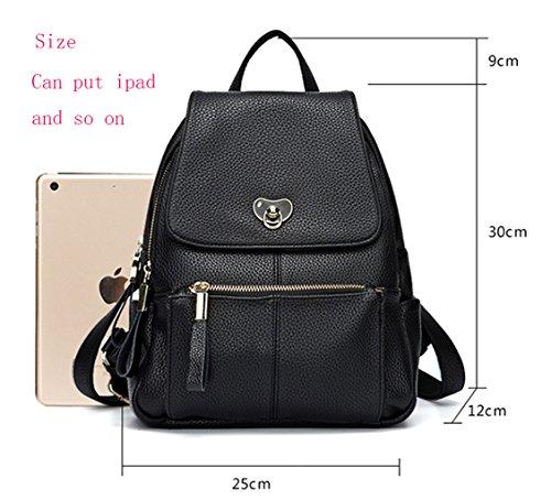 à dos dos provisions Rosé en main luxe de Sac taille à Collège Noir à cuir Ghlee sac grande Sac à véritable Sac qxBAzCw