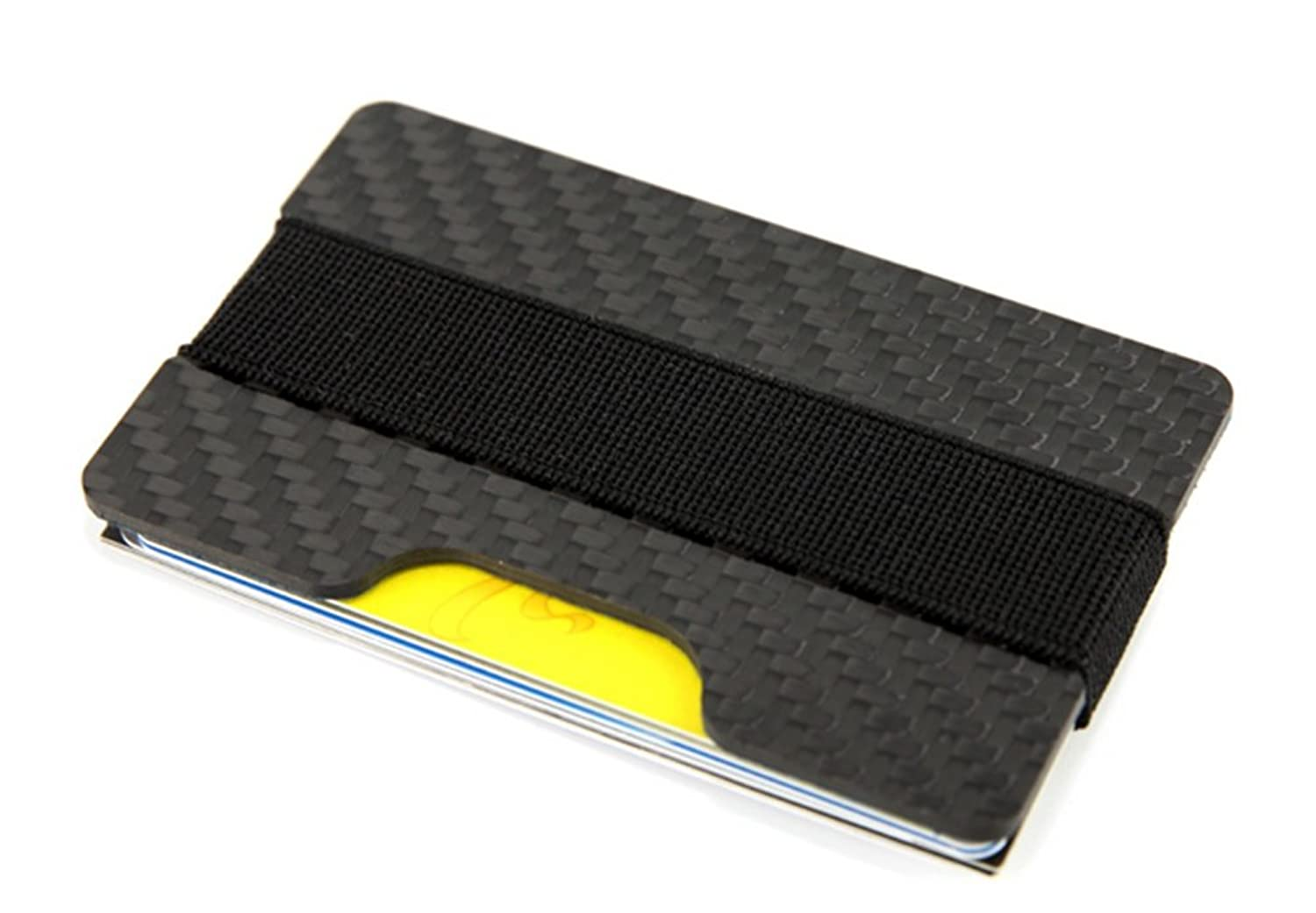 Carbon fiber rfid blocking money clip credit business card holder carbon fiber rfid blocking money clip credit business card holder slim wallets for men black at amazon mens clothing store magicingreecefo Choice Image