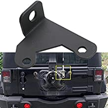 u-Box Solid Steel CB Antenna Spare Tire Mount for 07-17 Jeep JK Wrangler & Wrangler Unlimited