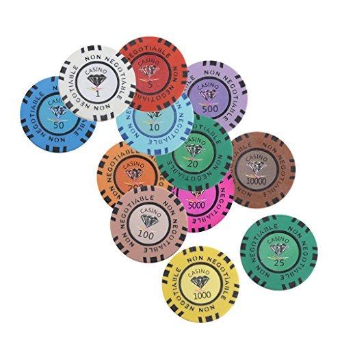 Jiliオンライン10個パッククレイチップWorth 100のカジノパーティーゲームアクセサリーギフトライトブラウン1.77インチの商品画像