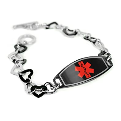 bracelet medical hemophilia hope claddaugh ovalbordertag id s w lauren claddagh