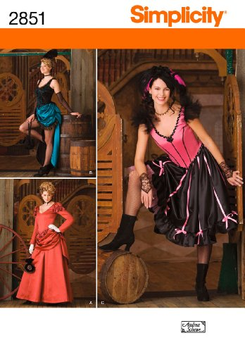 [Simplicity Sewing Pattern 2851 Misses Costumes, RR (14-16-18-20)] (Saloon Gal Costumes)
