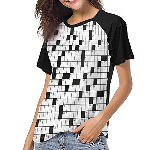 Mangooly Women T Shirt,Word Search Puzzle,Classical S-XXL Womens