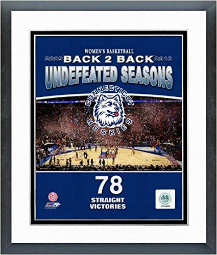 (2010 University of Connecticut Huskies Women's Basketball Back to Back Undefeated Seasons Art Poster PRINT 12.5