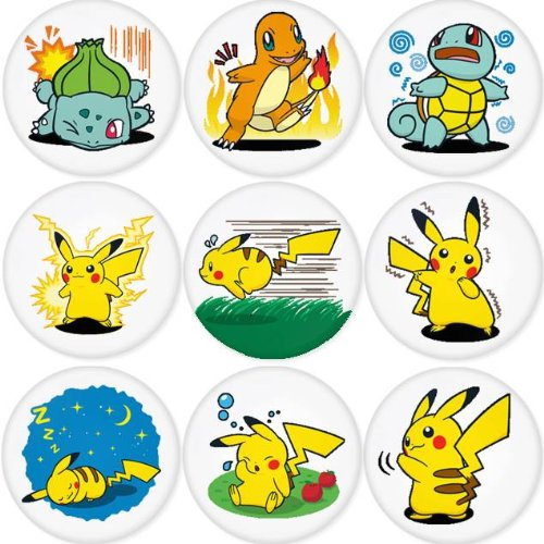 PIKACHU POKEMON round badges 1.75