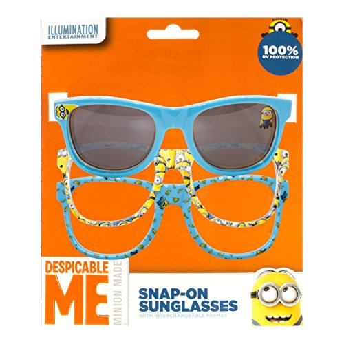 [NBC Universal Despicable Me Kid's Sunglasses with Snap-On Frames] (Despicable Me Glasses)