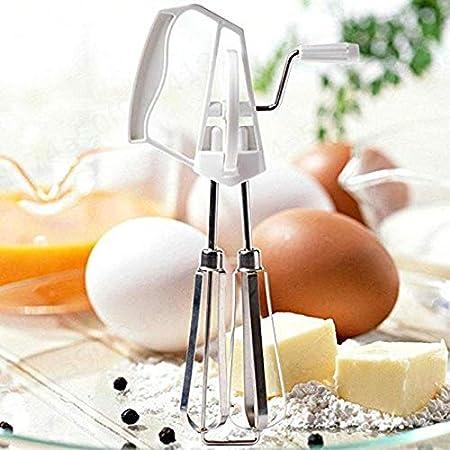 LAQI Strumenti Frullino Mixer Blender fruste Rotary a Mano Manuale Frusta in Acciaio Inox da Cucina