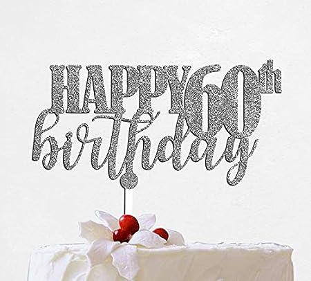 Cosynee Decoración para Tarta de 60 cumpleaños con estaca de ...