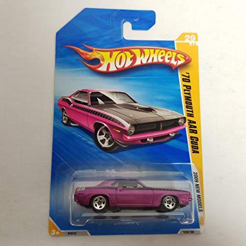 - '70 Plymouth AAR Cuda Purple Color Hot Wheels 2009 New Models 1/64 scale diecast car no. 029