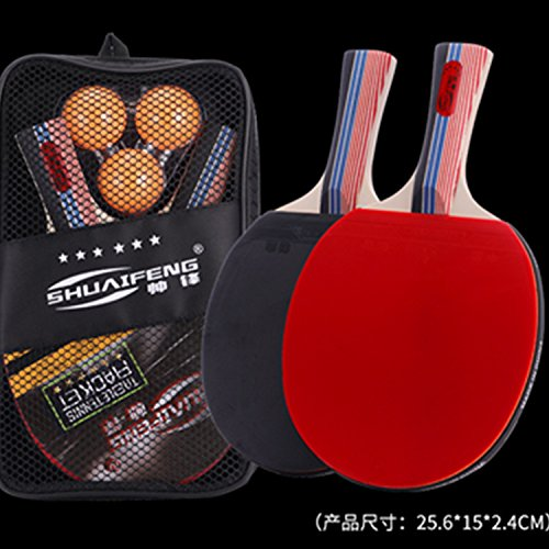 Amazon.com : shuaifeng Professional Ping Pong Paddle Set - Table Tennis Rackets set Perfect Indoor Sports Game Gift for Kids Professional : Sports & ...