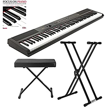 Artesia pa 88w digital piano black 88 key for Yamaha psr ew300 review