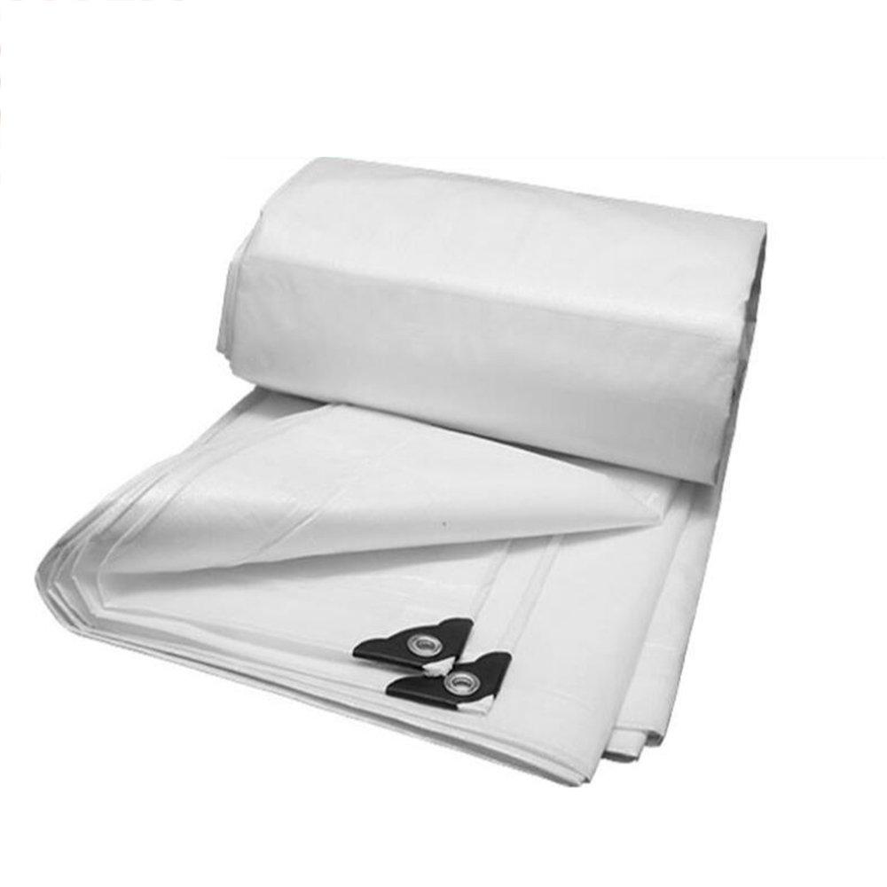 YL Home Imprägniern Sie Imprägniern Den Sonnenschutzplanenplanenplanen-Dreiradponcho des Wasserdichten Weißen Sonnenschutzmarkise-Tuches Weiß 160 G/Quadratmeter A++Verwenden Sie Keine stA++