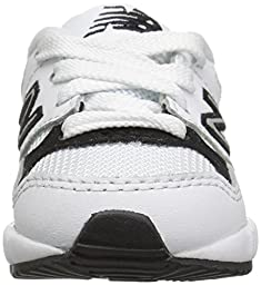 New Balance Boys\' KL530 Classic Running Shoe Sneaker, White/Black, 2 M US Infant