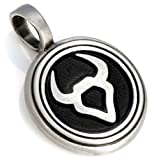 Bico Taurus Zodiac Pendant (Z5 Black) - starsign - Colored Resin and Metal Tribal Street Jewelry