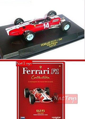 EDICOLA Ferrari F1 512 Rodriguez 1965 MODELLINO Die Cast 1 ...