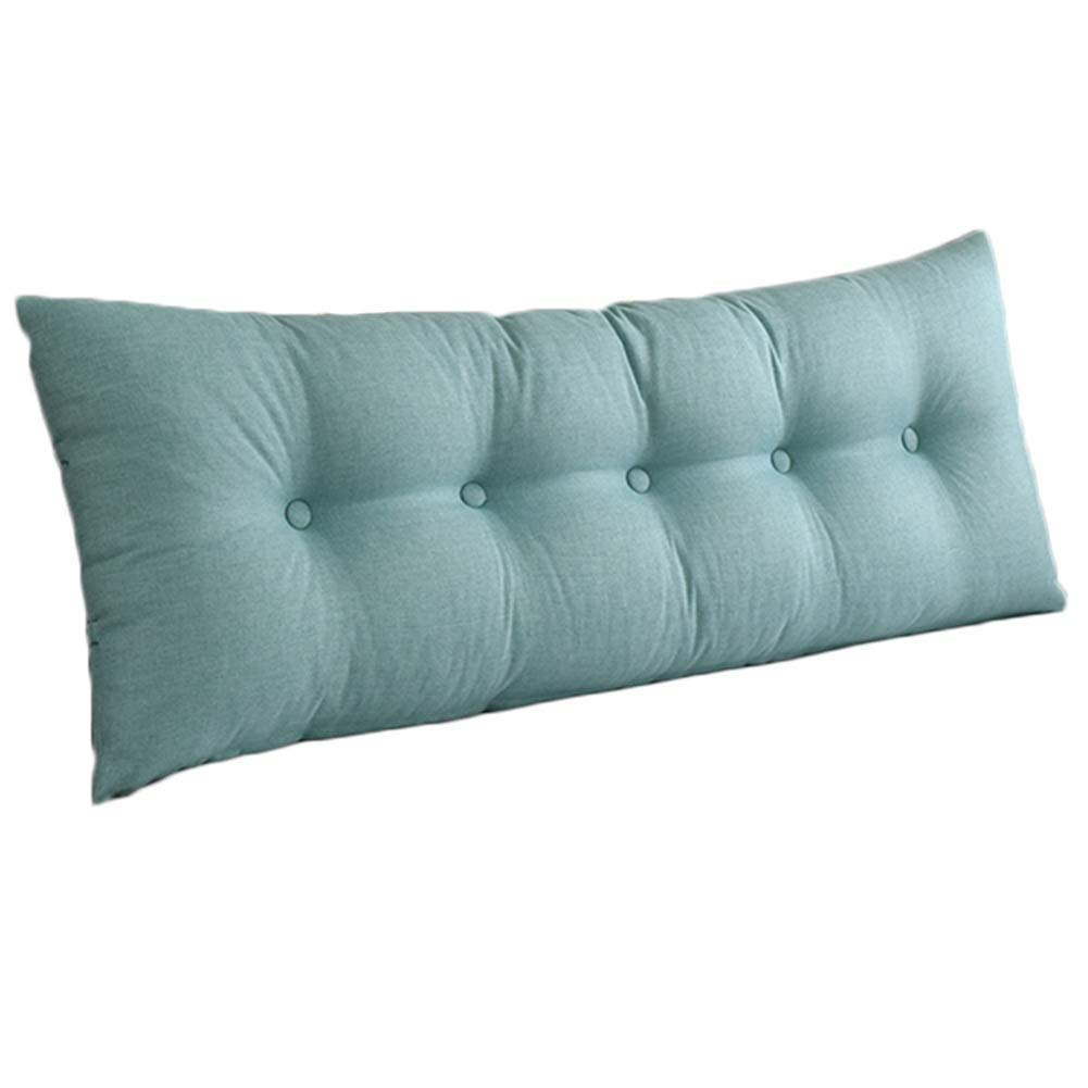 Light bluee 135x50cm LPD-Bed backrest Cushion Upholstered Headboard Pillow Bedside Cushion Wedges Backrest Waist Pad Backrest Washable, 8 colors (color   Coffee, Size   150X50cm)