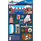 Reminisce Jet Setters 2 3-Dimensional Sticker, Maine