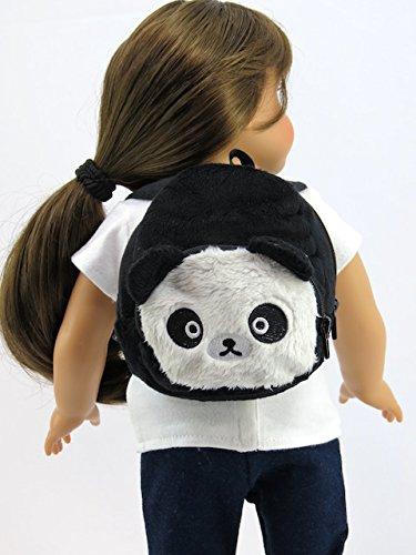 American Fashion World Panda Bear Backpack for 18 Inch Doll from American Fashion World