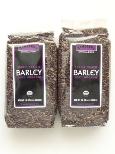 Certified 100% Organic Purple Prairie Barley Montana Pack of 2 454 g 16 oz each - Black Barley