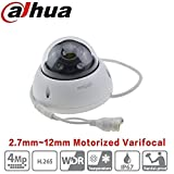 Dahua PoE Dome Camera HDBW4433R-ZS 4MP 2.7Mm~12Mm Varifocal Motorized Zoom IP67 Onvif Ip Camera WDR IK10 Indoor Outdoor Security Surveillance Camera International Version