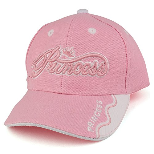 Trendy Apparel Shop Infant Size Princess 3D Embroidered Adjustable Baseball Cap - Pink