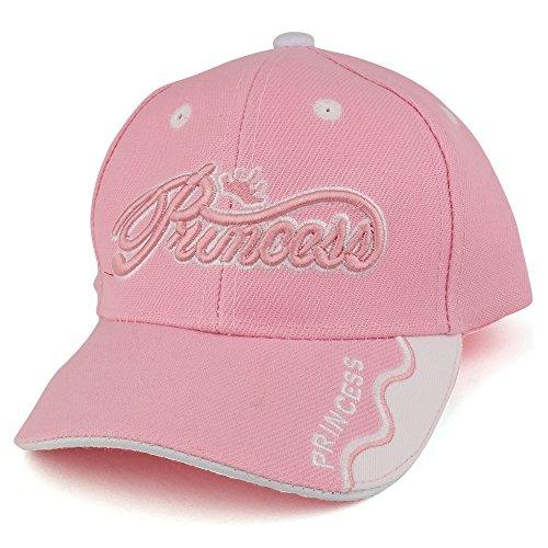 Trendy Apparel Shop Infant Size Princess 3D Embroidered Adjustable Baseball Cap - Pink