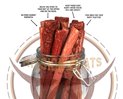 Mission Meats Sugar Free Sampler Pack Grass Fed Beef Sticks & Bars & Healthy Free Range Turkey Sticks Gluten MSG Nitrate & Nitrite Free Paleo Friendly Snacks For Sale