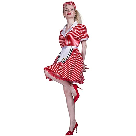CAGYMJ Dress Party Ropa De Mujer,Disfraz Mucama Falda Corta Rojo ...