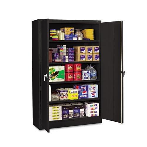 (Tennsco J2478SUBK Assembled Jumbo Steel Storage Cabinet, 48w x 24d x 78h, Black)